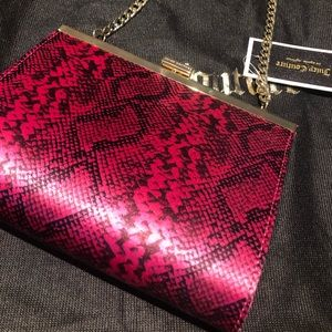Juicy Couture pink snakeskin purse / clutch